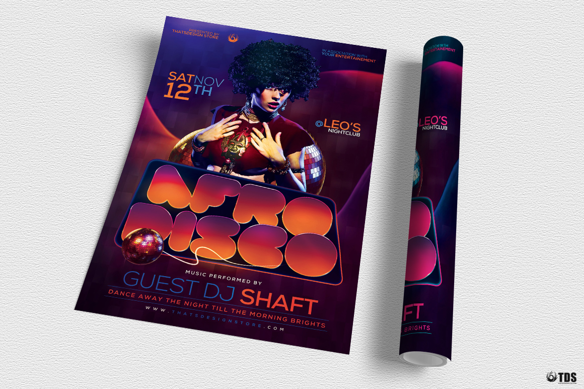 Afro Disco Flyer Template example image 4
