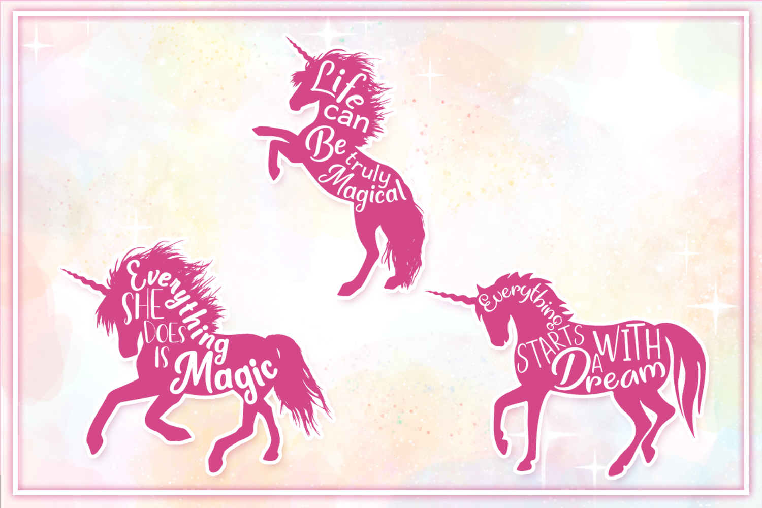 Unicorn SVG Bundle - The Complete Craft Collection example image 5
