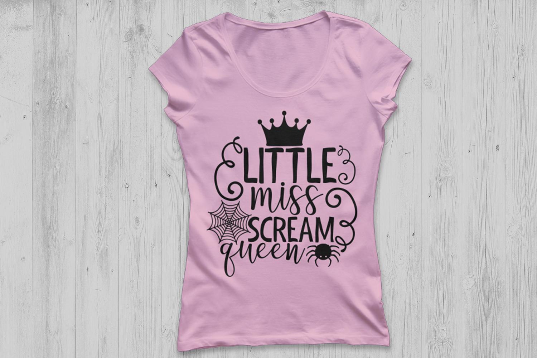 Little Miss Scream Queen Svg, Halloween svg, Halloween girl. example image 2