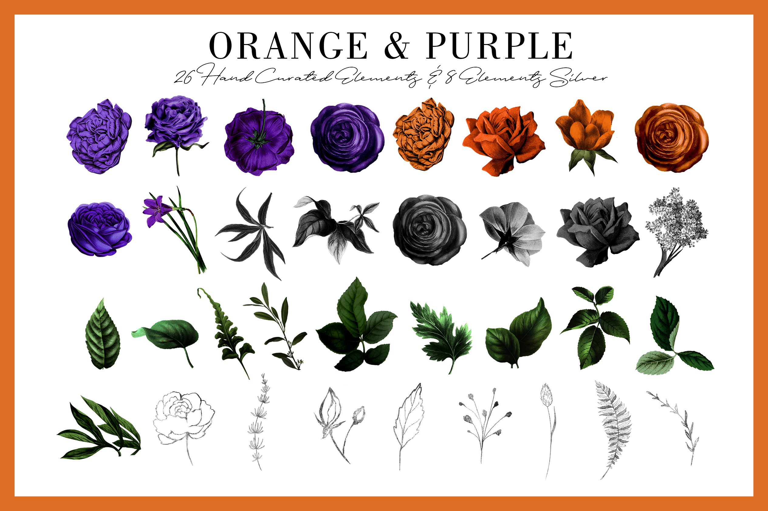 Orange & Purple Flower | Halloween Blossom example image 2