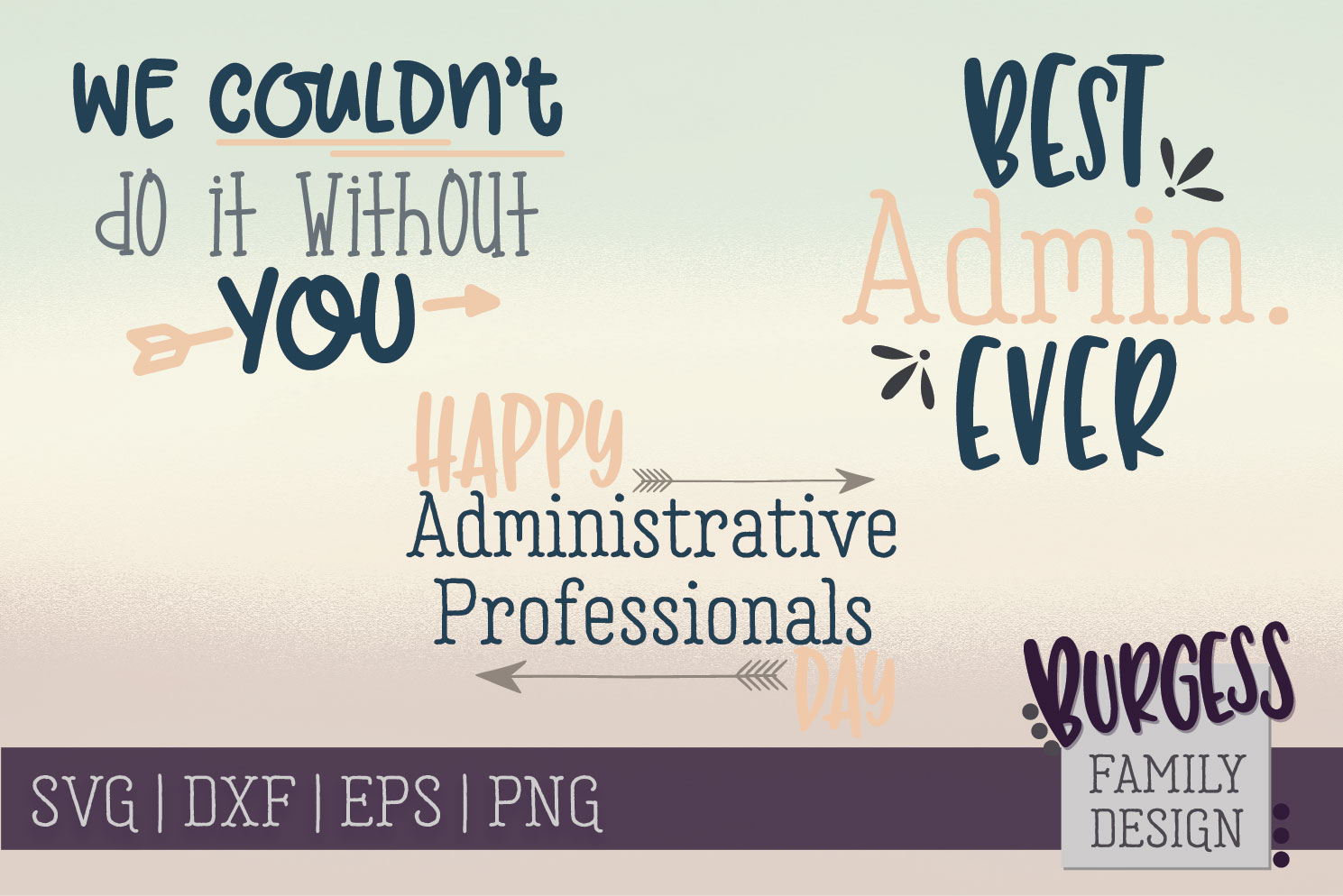 BUNDLE Administrative Professionals | SVG DXF EPS PNG example image 1