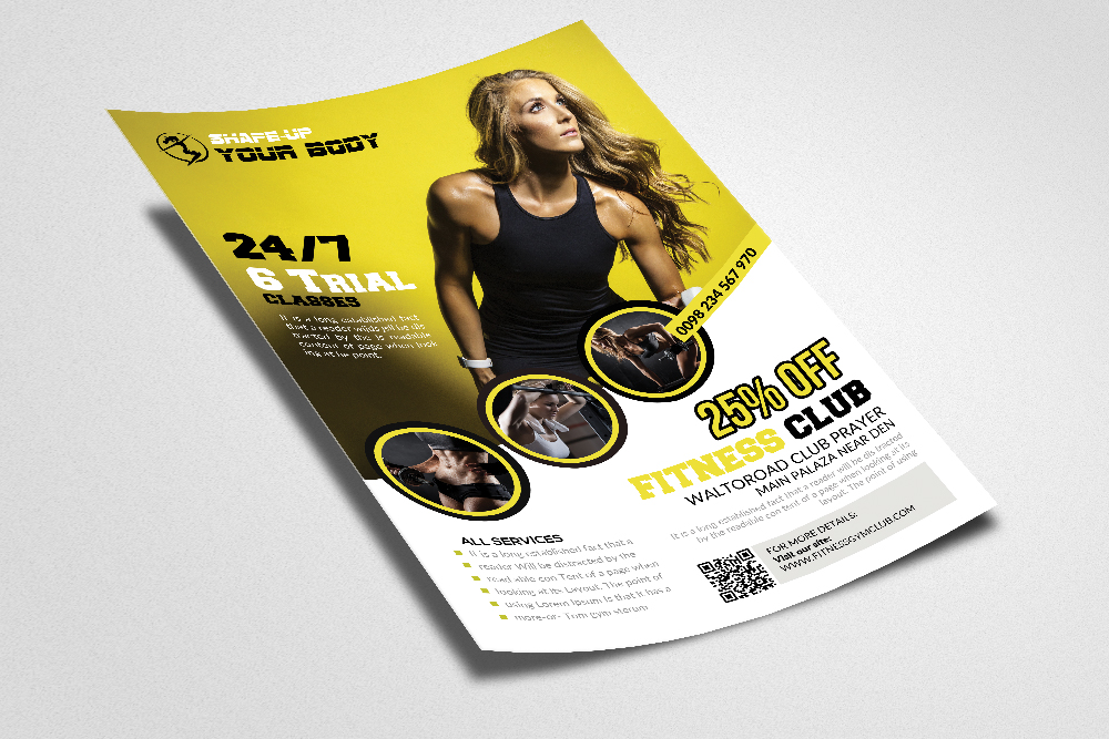Fitness Club Ads Flyer/Poster example image 2