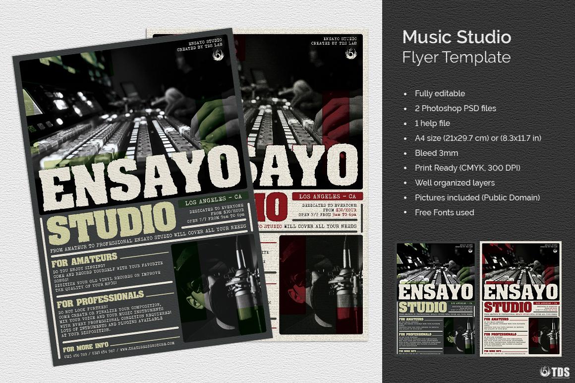 Music Studio Flyer Template example image 1