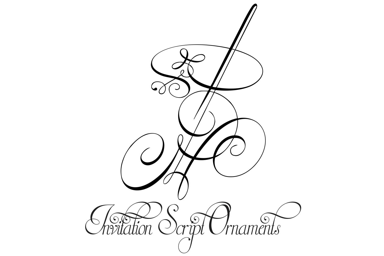 Invitation Script Ornaments  example image 1
