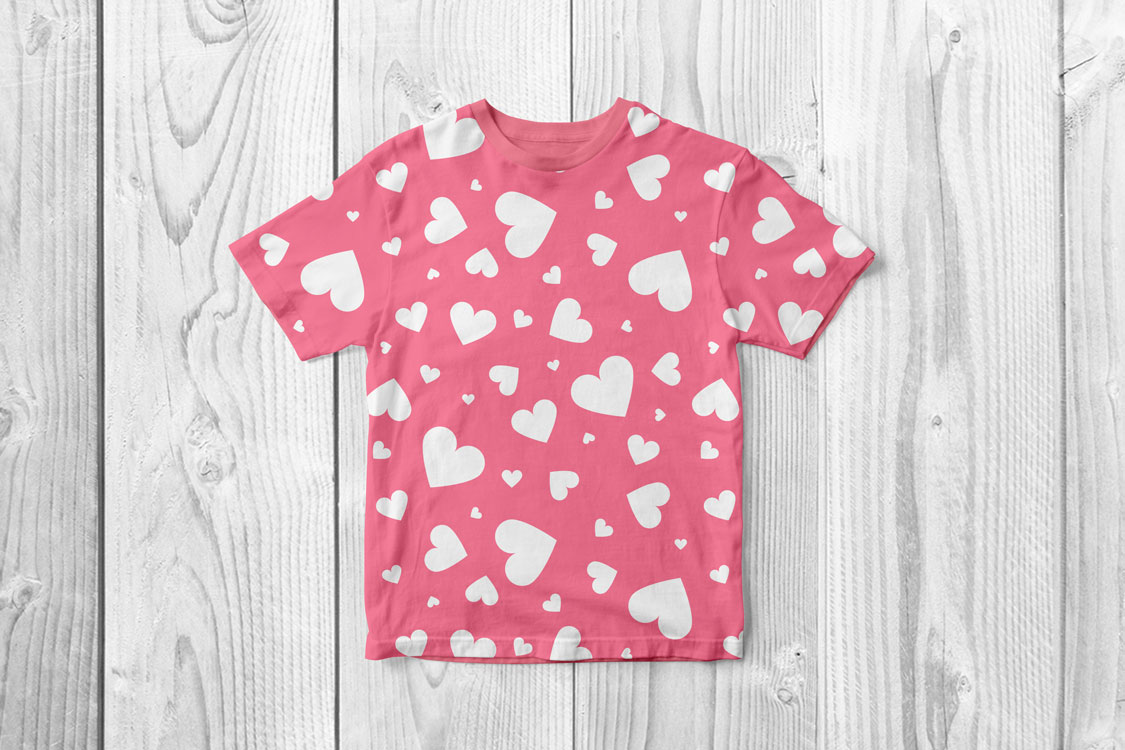 Vector seamless hearts patterns example image 4