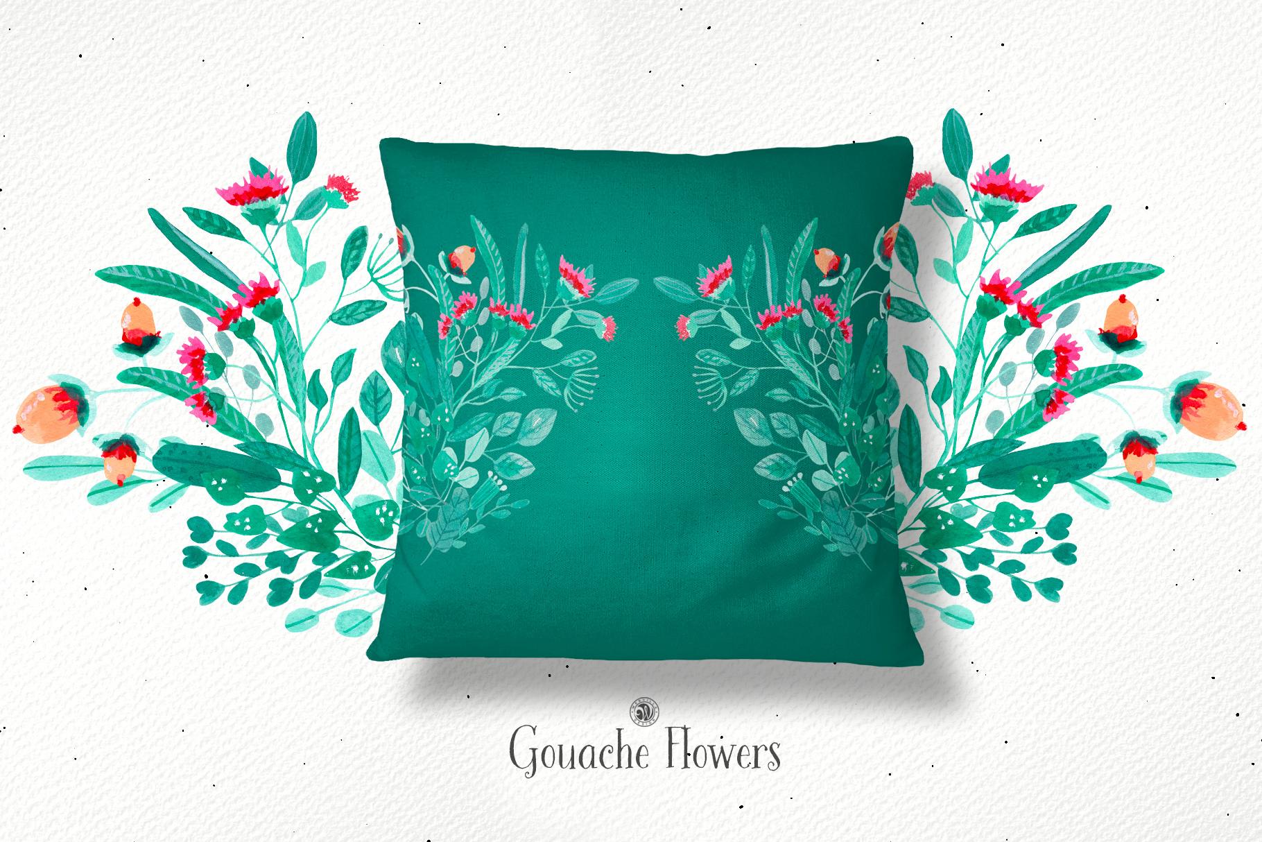 Gouache Flowers example image 5
