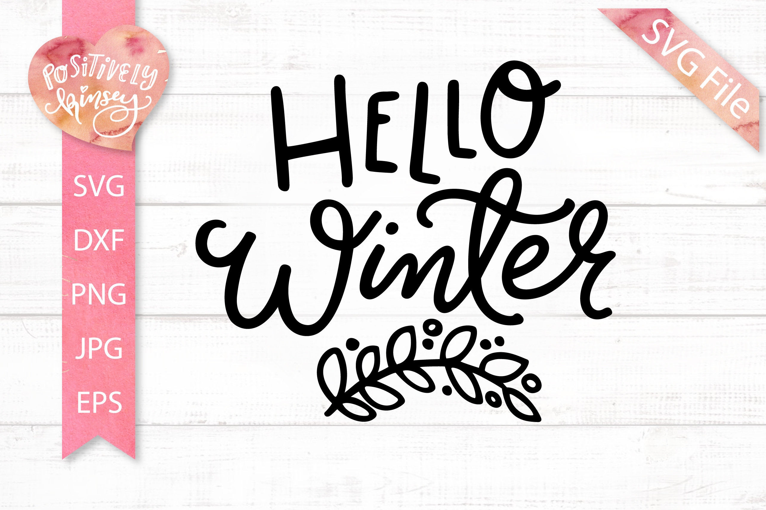 Hello Winter SVG Design for Winter Shirts & Winter Signs example image 1