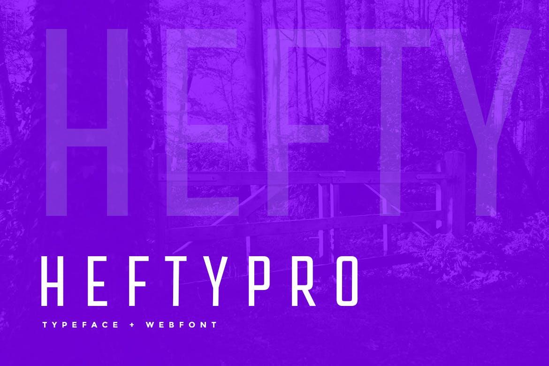 Hefty Pro Display Typeface WebFont example image 1