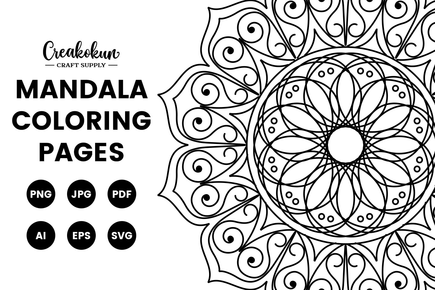 - Mandala Design Illustration - Coloring Pages