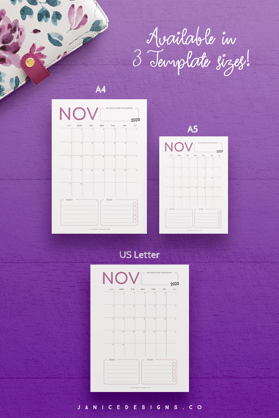 2020 Calendar InDesign Template for Commercial Use example image 5