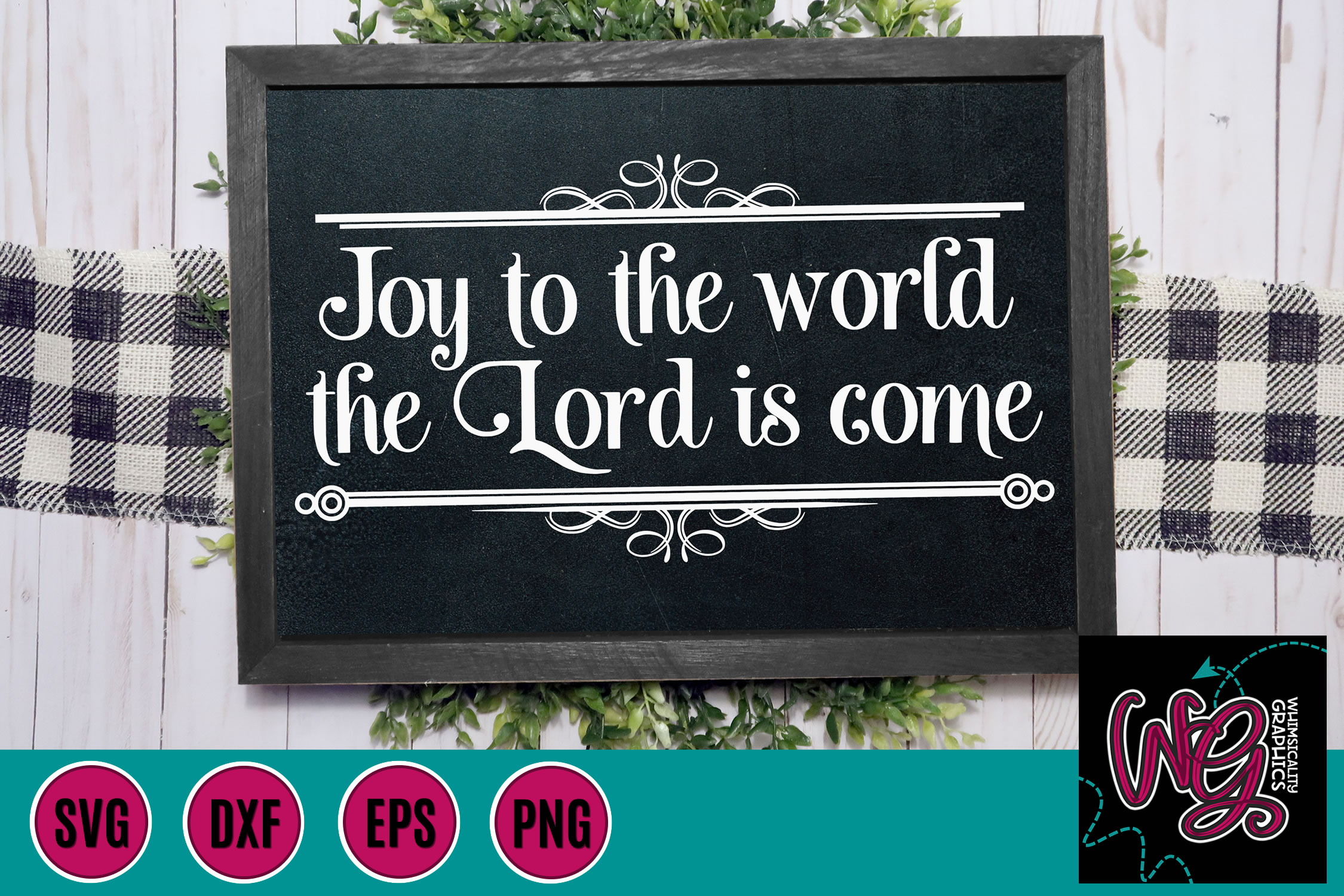 Joy to the World Christmas SVG, DXF, PNG, EPS example image 1