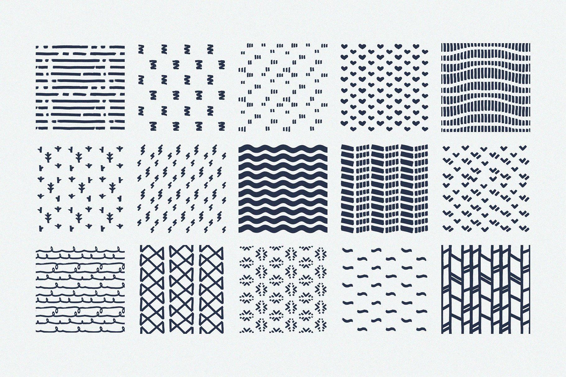 Procreate Patterns Brushes Set example image 2