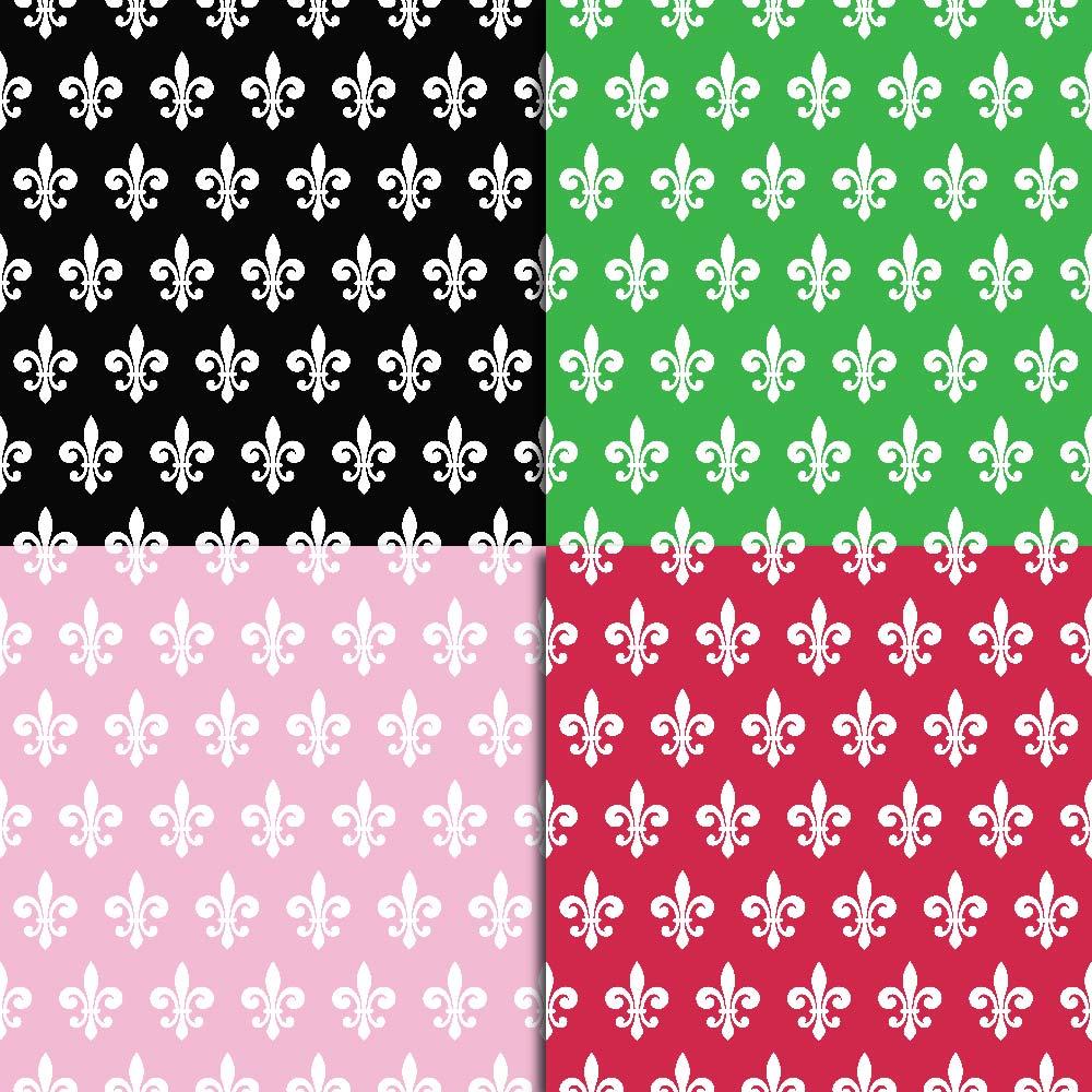 Fleur de Lis Digital Paper example image 2