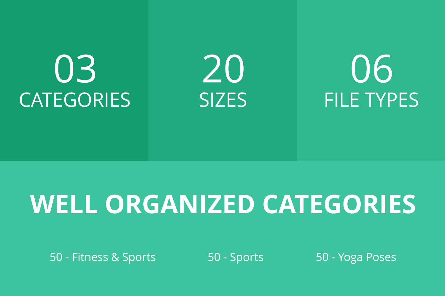 150 Fitness & Sports Flat Icons example image 2