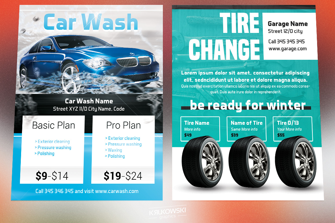 Cars Flyers Bundle example image 3