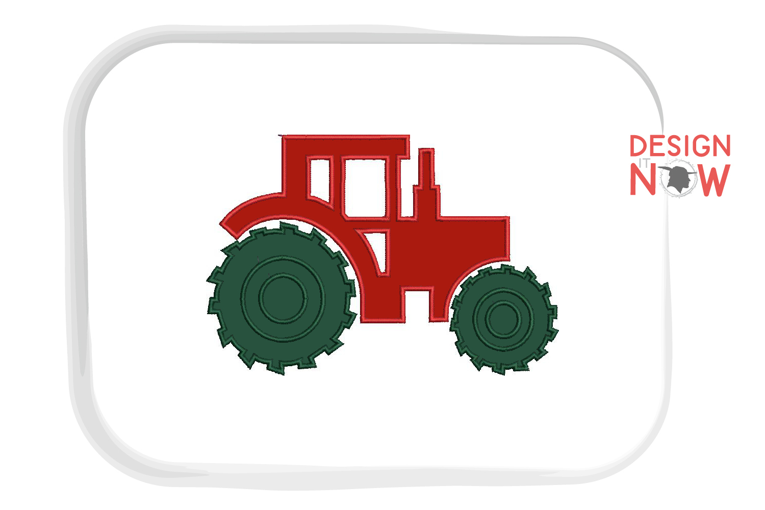 Tractor Applique Embroidery Design, Baby Embroidery Pattern example image 2