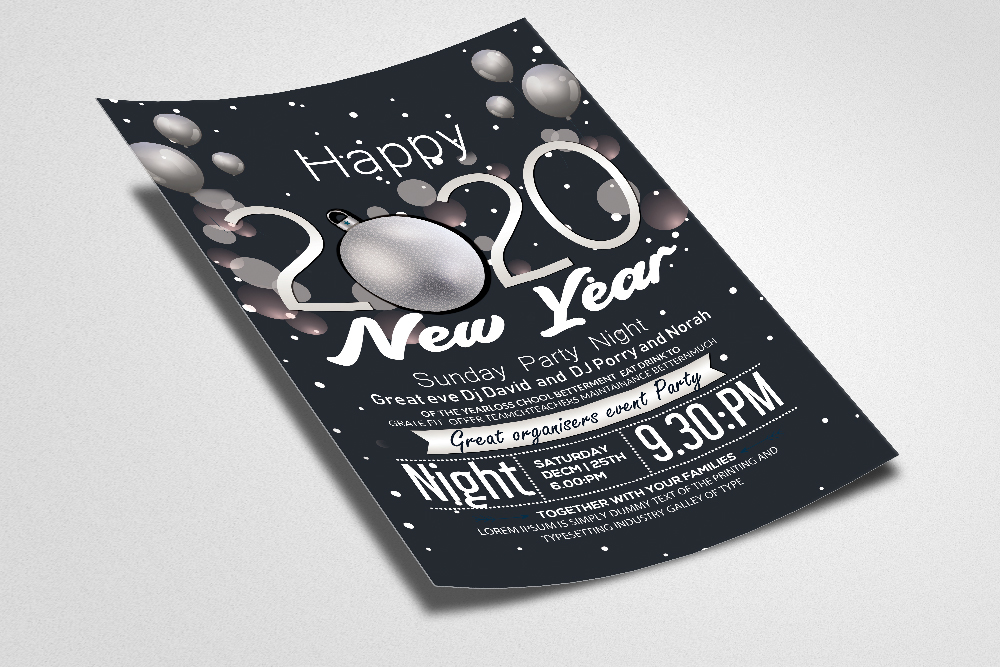 Happy New Year Flyer Template example image 2