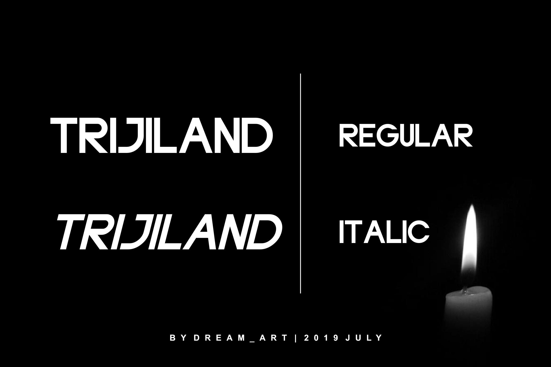 TRIJILAND - BOLD FONT example image 5