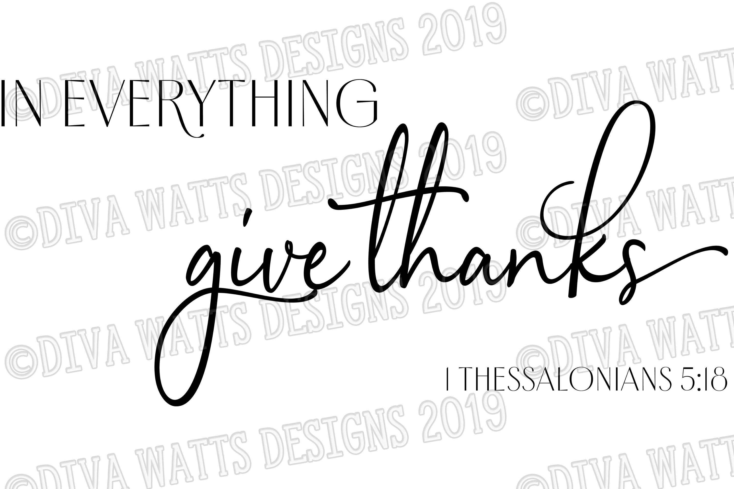 In Everything Give Thanks | Bible Verse | Fall Thanksgiving example image 2