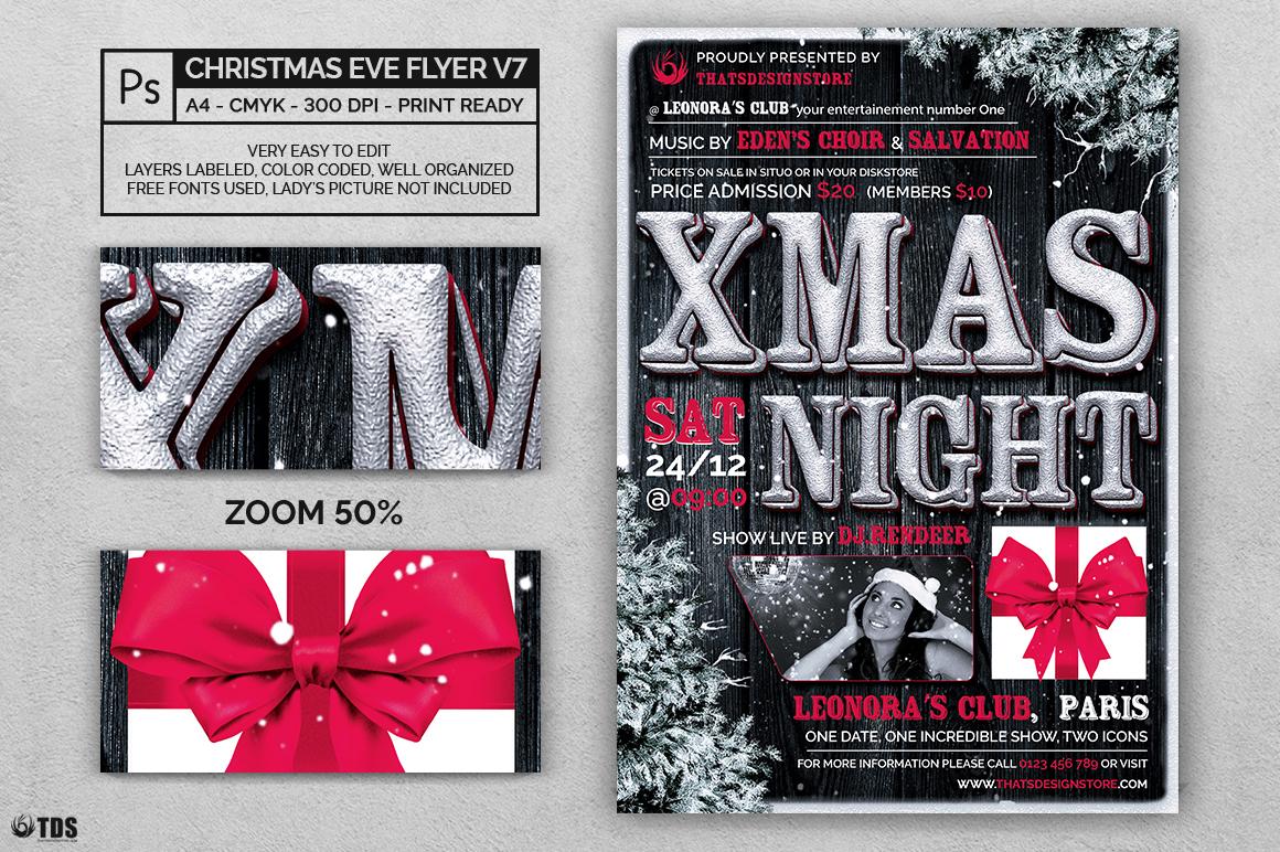 Christmas Eve Flyer Template V7 By Tdst Design Bundles
