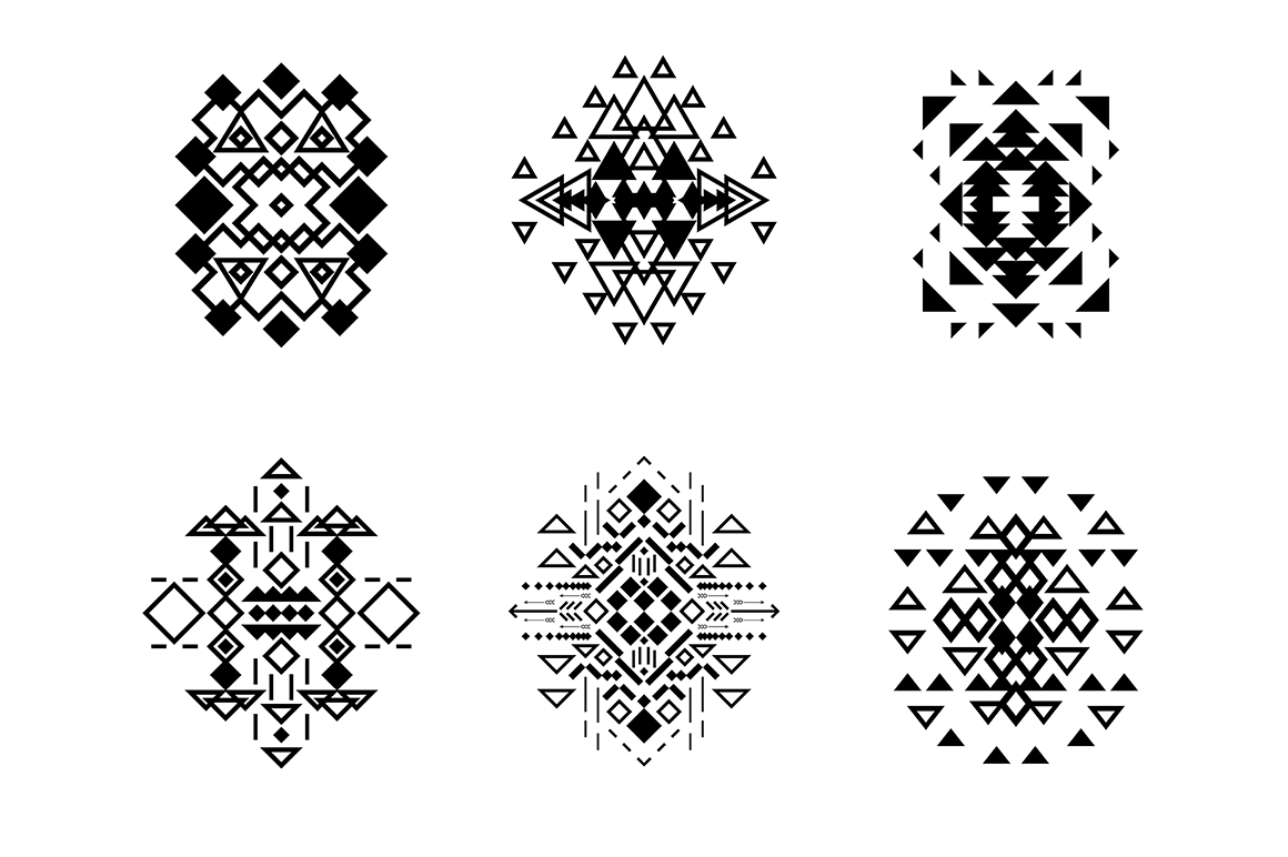55 Tribal Design Elements Collection example image 3