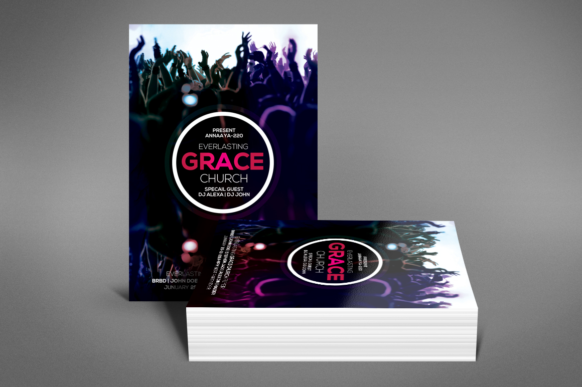 Grace Of God Church Flyer example image 4
