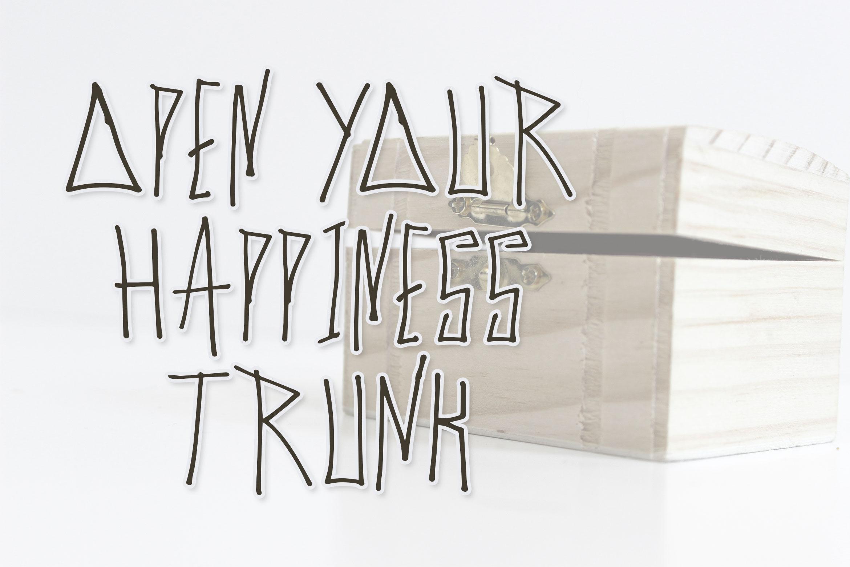 Cyber Trunk - Handwritten Caps Font example image 2