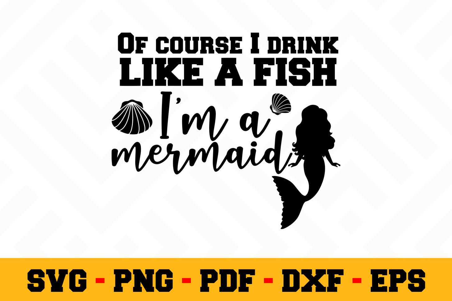 Mermaid SVG Design n522 | Mermaid SVG Cut File example image 1