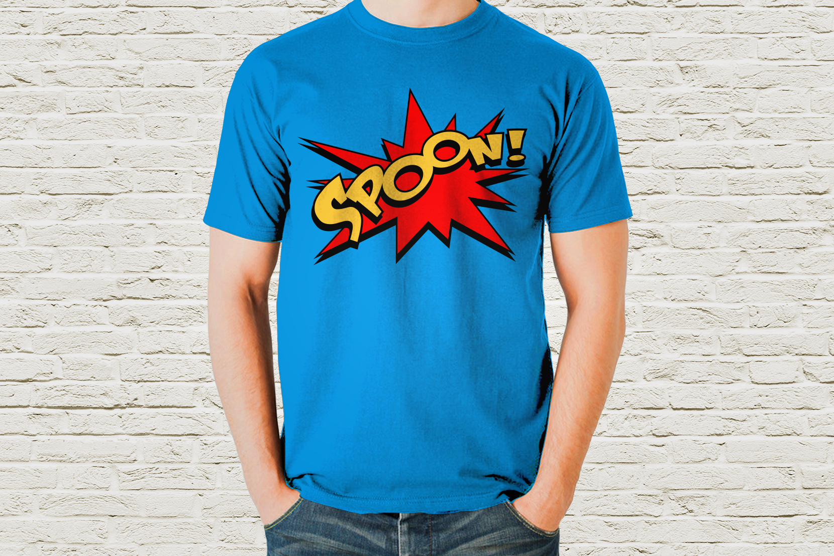 Comic Book Burst Spoon SVG File Cutting Template example image 1