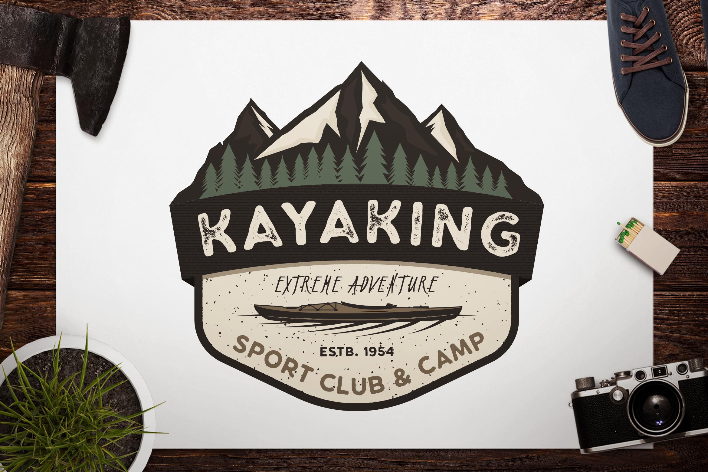 Download Kayak SVG Cut File, Adventure Digital, Mountain Camp Cut ...