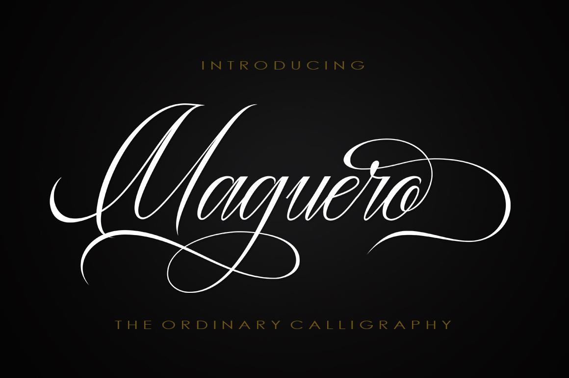 Maguero Script example image 1