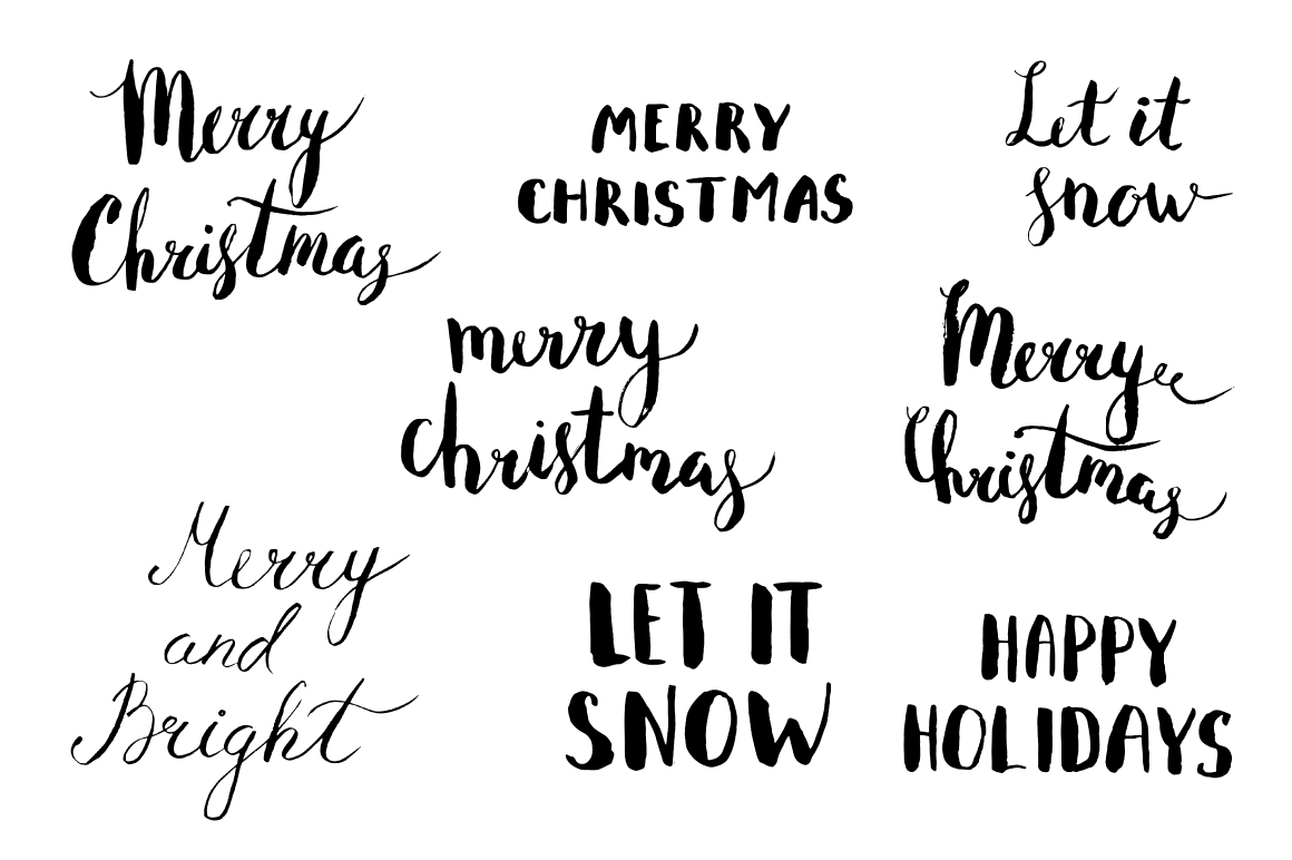 Watercolor Christmas Design Pack example image 4