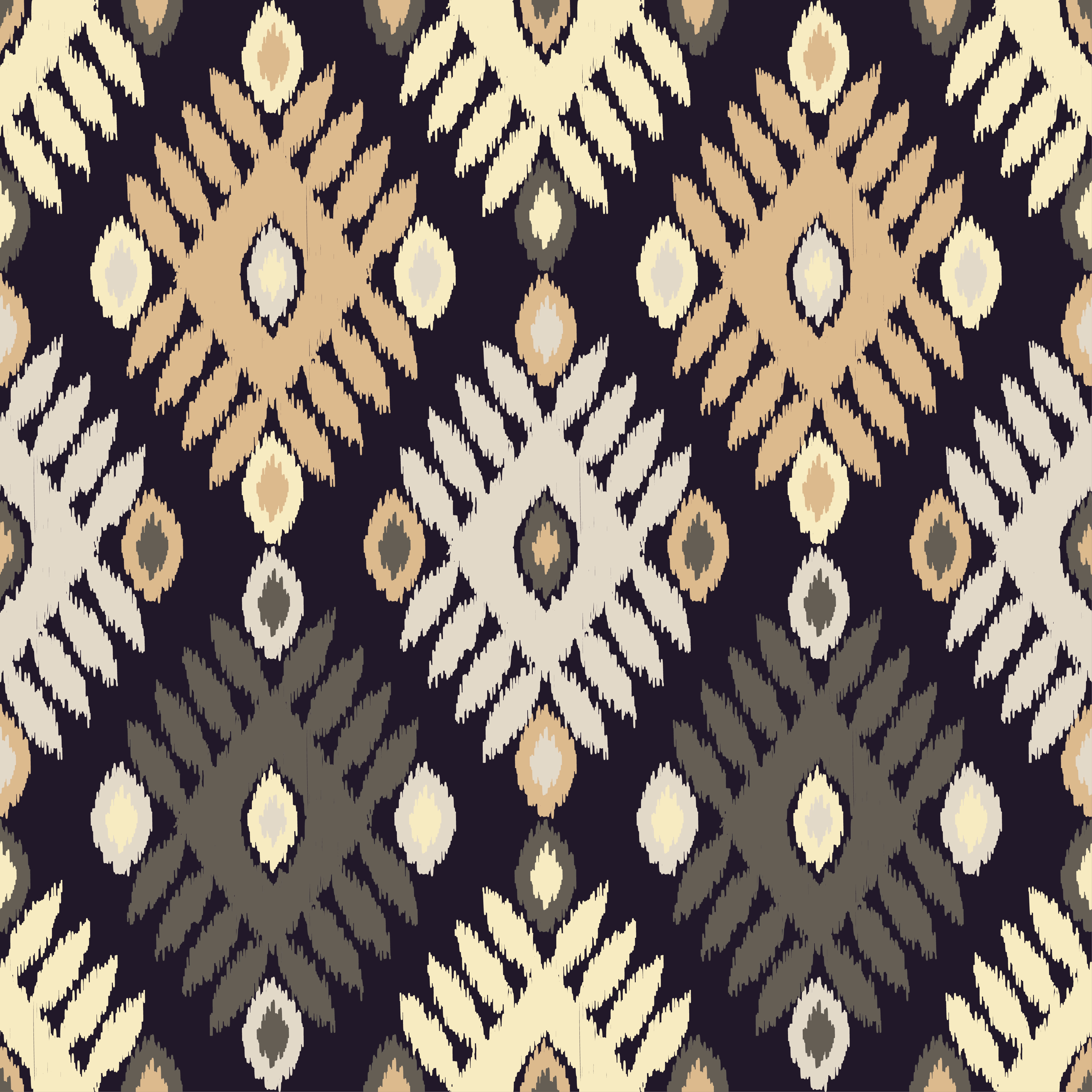 Set of 6 Ethnic boho seamless pattern.  example image 2
