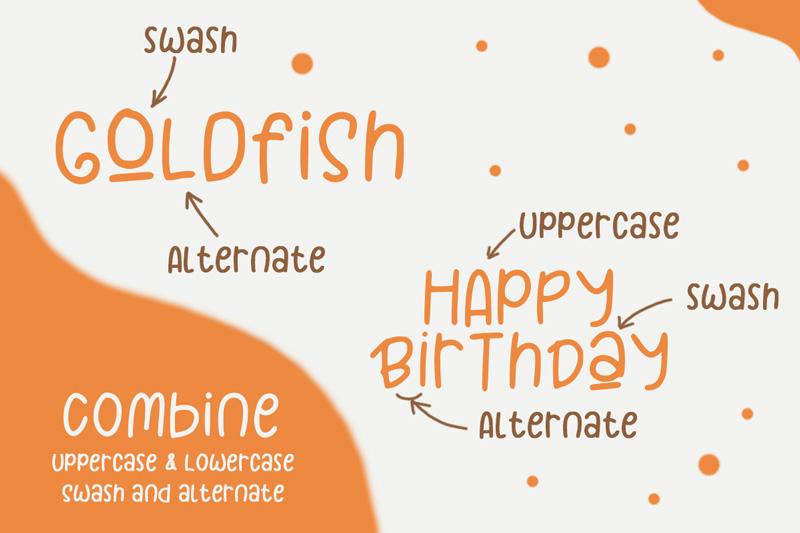 Goldfish - Playful Teacher Kids Font example image 2