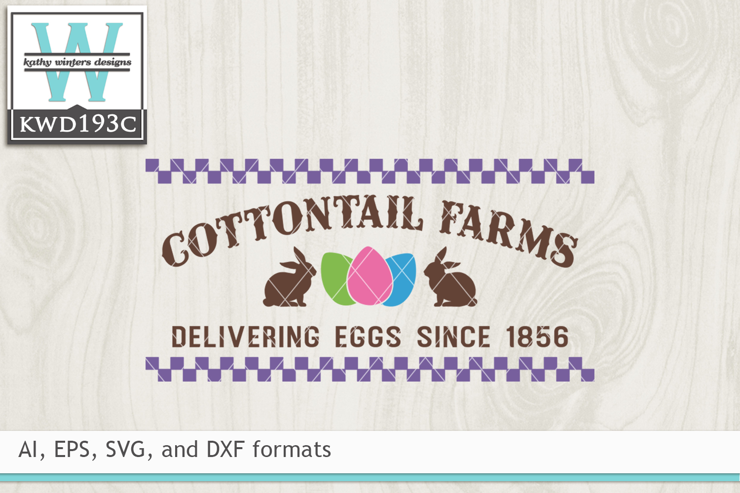 Easter SVG - Cottontail Farms example image 2