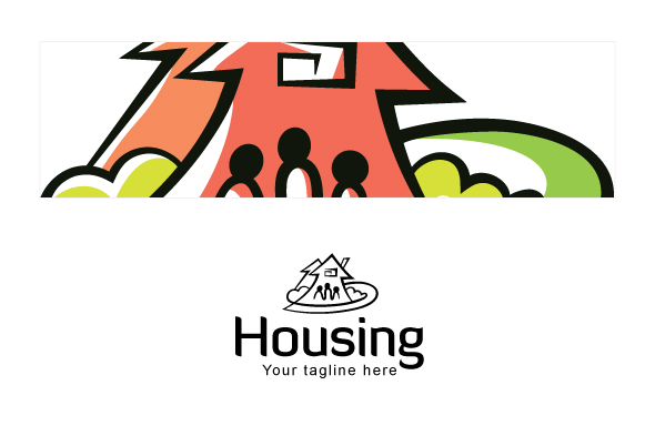 Housing - Real Estate Logo Design Template for Residentia example image 3
