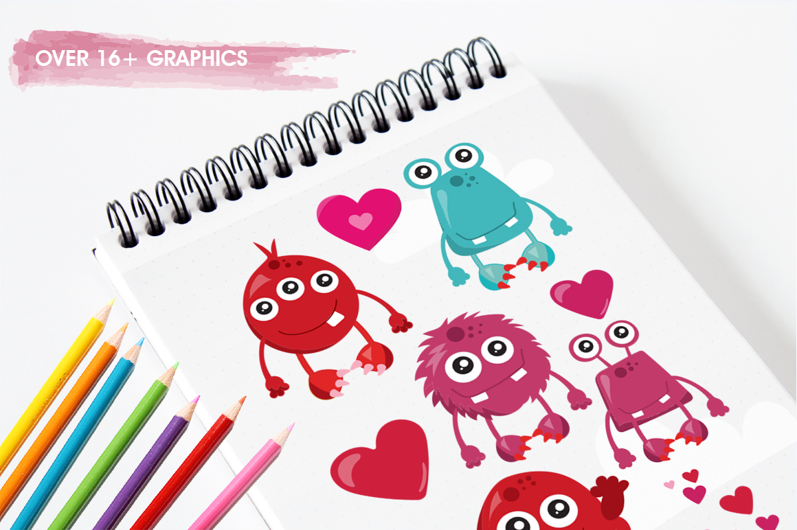 Love Monster graphic and illustrations example image 5