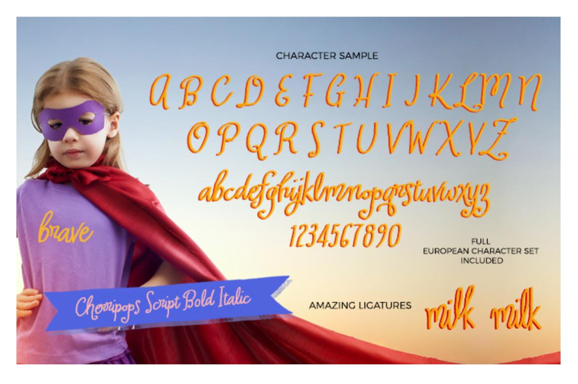 Cherripops Script Bold Italic example image 2