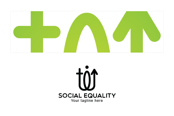 Social Equality - Male & Female Gender Iconic Abstract Stock example image 3