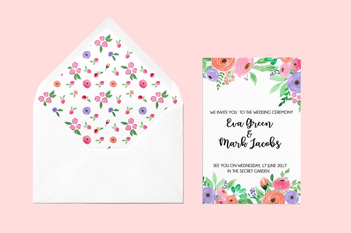 Watercolor fresh spring floral vol.2 example image 6