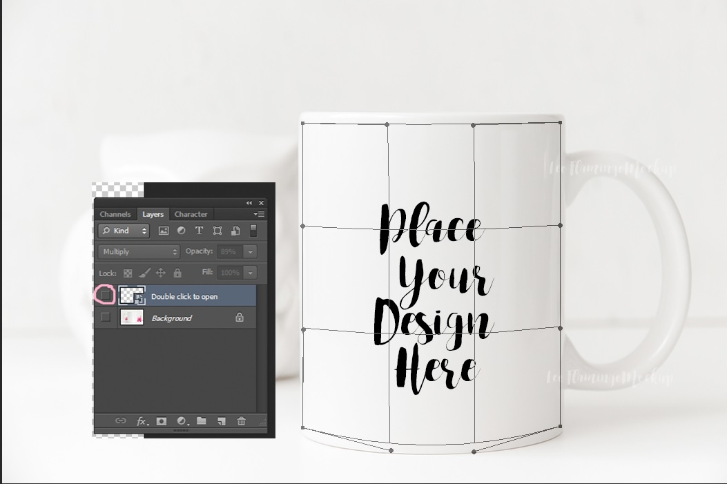White mug mockup monochromatic, cup template, 11oz ceramic mugs mock up stock photo PSD smart example image 2