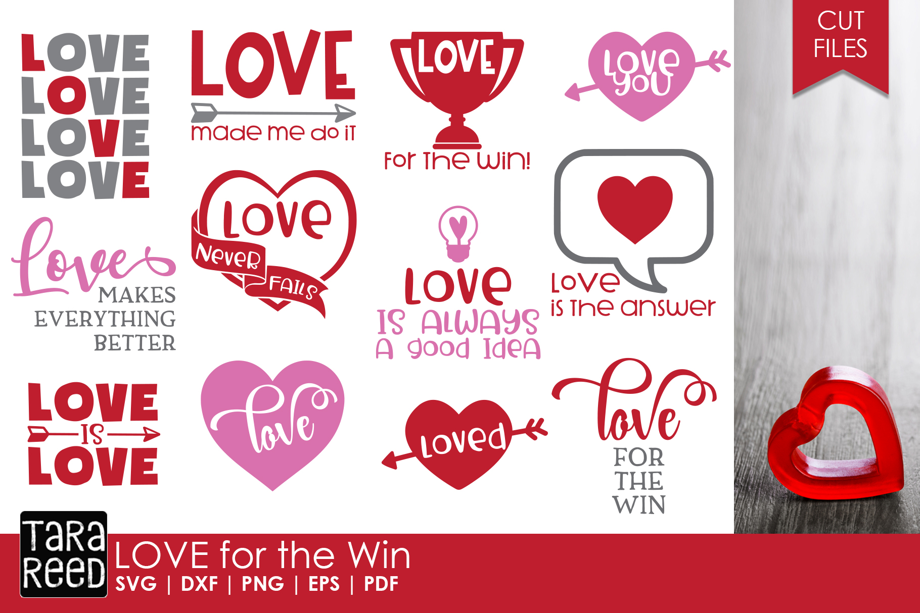 Valentines Day MEGA Bundle - SVG and Cut Files for Crafters example image 3