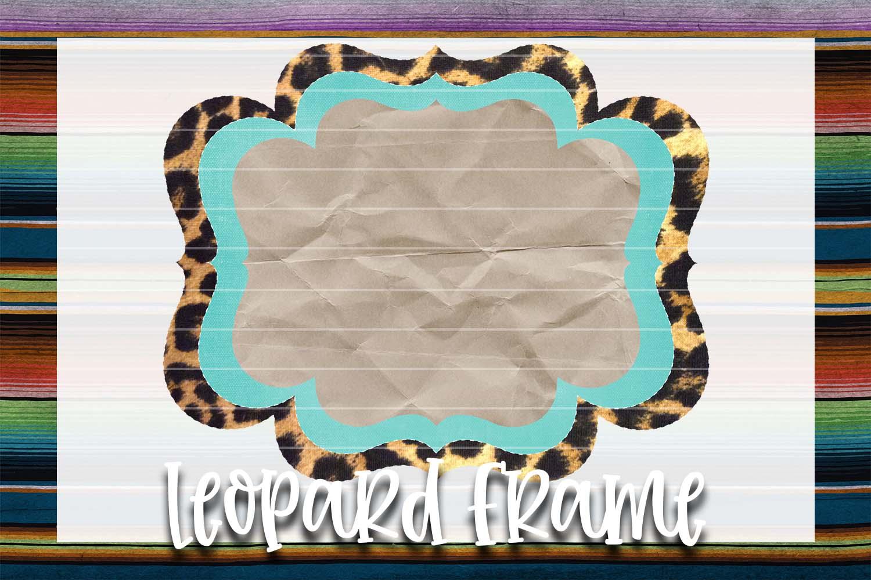 Mint & Leopard Frame Background Element example image 1