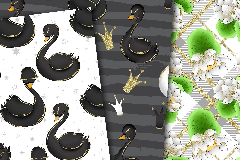 Swans digital paper example image 3