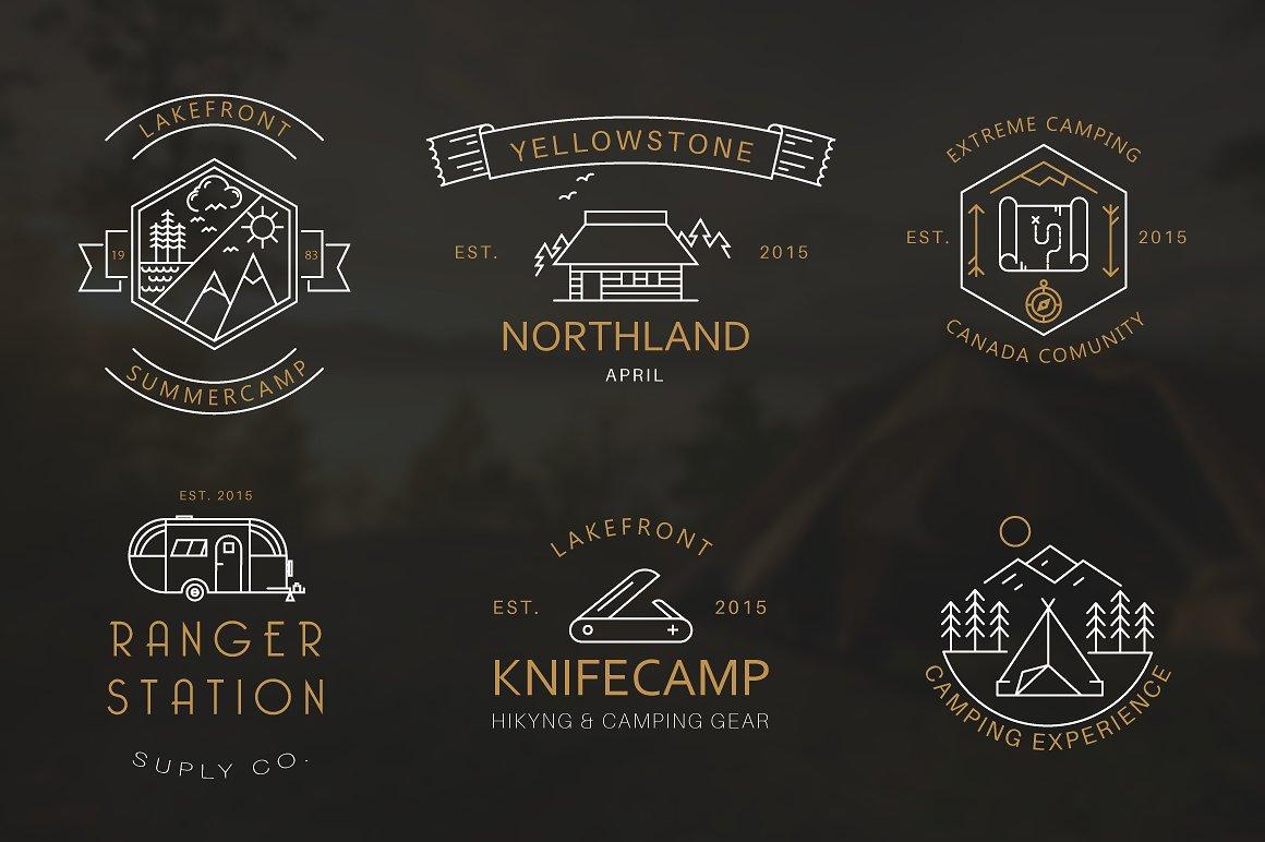 Mountain Logo | Camping Logos for Shirts | Camping Icon example image 5