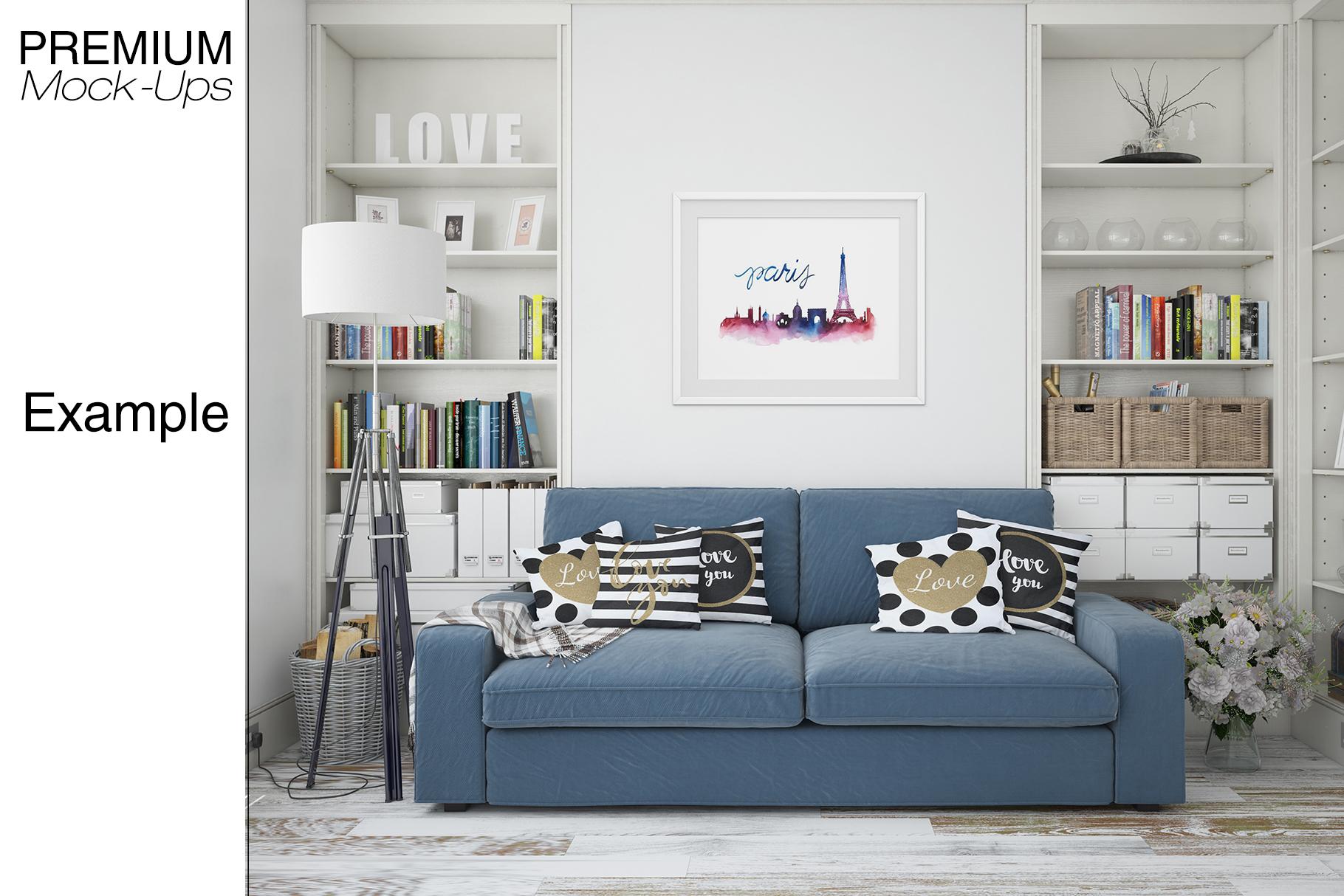 Pillows & Frames Mockup Set example image 25