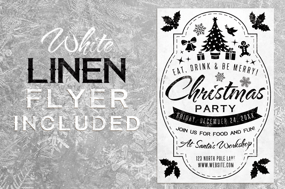 Chalk Christmas Flyer example image 2