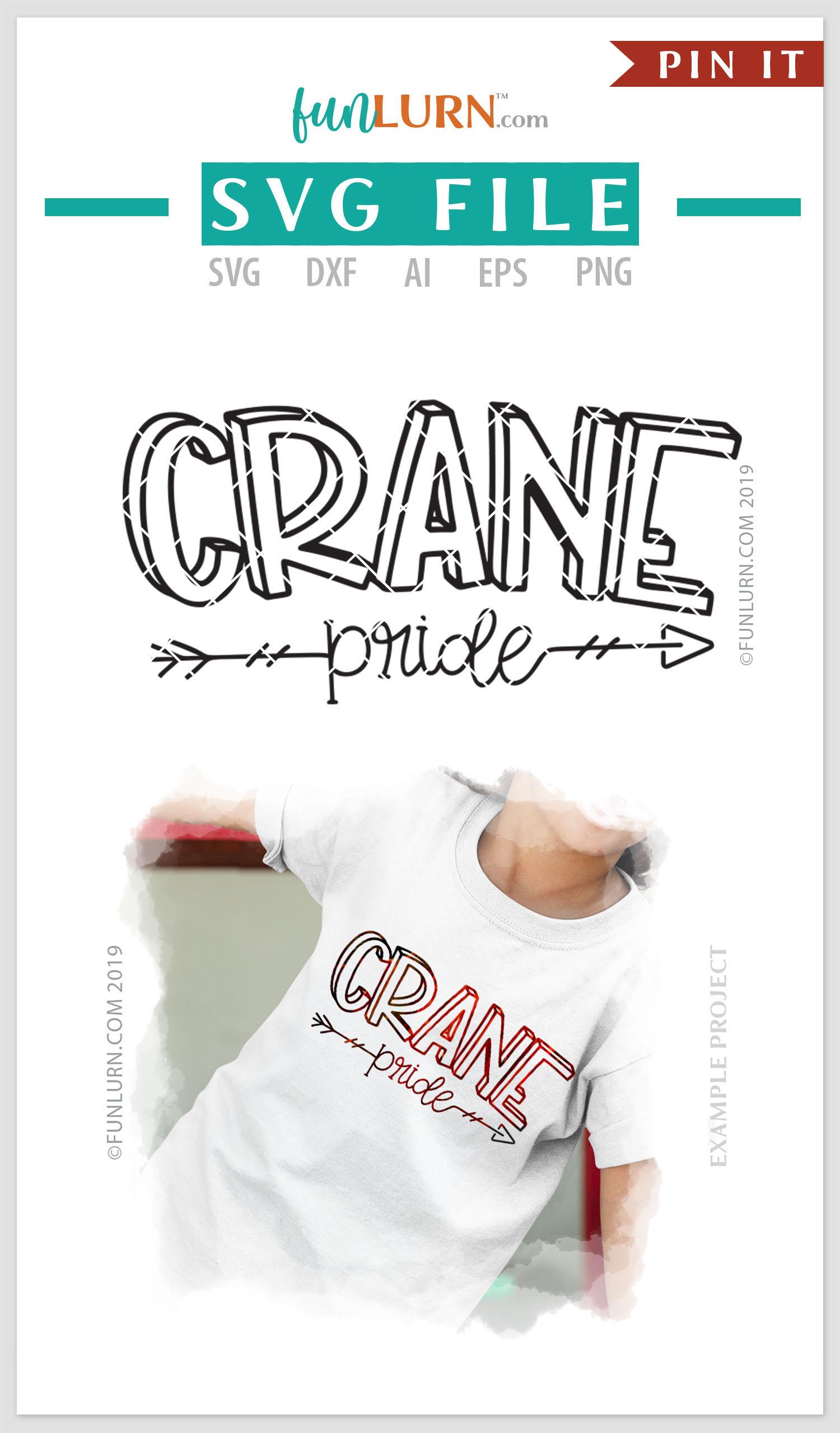 Crane Pride Team SVG Cut File example image 4