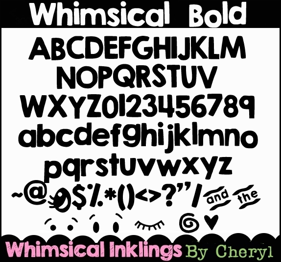 Whimsical Bold Font example image 2