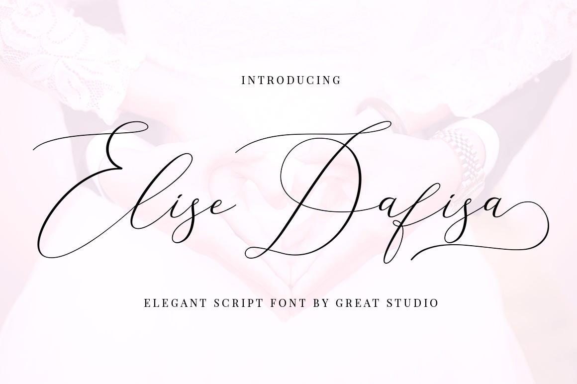 Elise Dafisa - Elegant Script Font example image 1